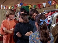 Peter Tork, Davy Jones, Mike Nesmith, Micky Dolenz, Susan (Donna Baccala)