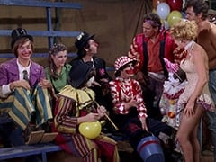Peter Tork, Susan (Donna Baccala), Davy Jones, Mike Nesmith, Micky Dolenz, Sword Swallower (Carl Carlsson), Willy the Midget (Felix Silla), Juggler (Ruth Carlsson), Strong Man (Gene Rutherford)