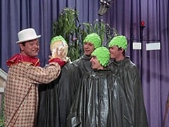 Captain Crocodile (Joey Forman), Peter Tork, Mike Nesmith, Davy Jones, Micky Dolenz