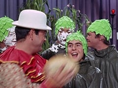 Peter Tork, Captain Crocodile (Joey Forman), Mike Nesmith, Davy Jones, Micky Dolenz