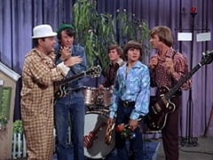Captain Crocodile (Joey Forman), Mike Nesmith, Micky Dolenz, Davy Jones, Peter Tork