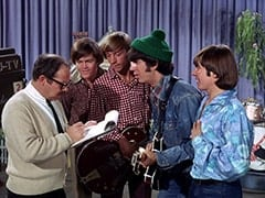 Stage Manager (Larry Gelman), Micky Dolenz, Peter Tork, Mike Nesmith, Davy Jones