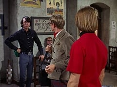 Mike Nesmith, Mr. Schneider, Rob Roy Fingerhead (Eldon Quick), Peter Tork
