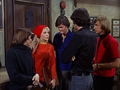 Davy Jones, Toby Willis (Valerie Kairys), Micky Dolenz, Mike Nesmith, Peter Tork