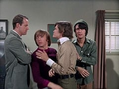 Agent Modell (Mike Farrell), Peter Tork, Micky Dolenz, Mike Nesmith