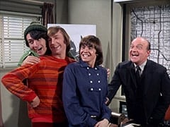 Mike Nesmith, Peter Tork, Davy Jones, Inspector Blount (Dave Barry)