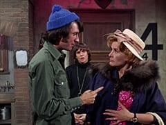 Mike Nesmith, Davy Jones, Milly Rudnick (Rose Marie)