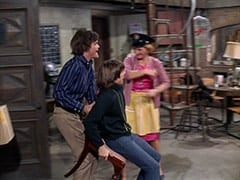 Micky Dolenz, Davy Jones, Milly Rudnick (Rose Marie)