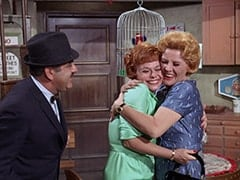 Arthur (Alfred Dennis), Judy (Judy March), Milly Rudnick (Rose Marie)