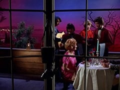 Mike Nesmith, Davy Jones, Milly Rudnick (Rose Marie), Peter Tork, Micky Dolenz