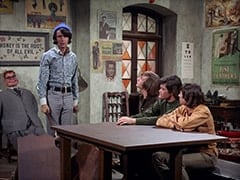 Mr. Schneider, Mike Nesmith, Peter Tork, Micky Dolenz, Davy Jones