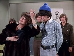 Ellen Farnsby (Susan Browning), Micky Dolenz, Mike Nesmith, Peter Tork