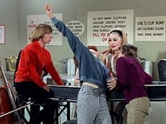 Peter Tork, Micky Dolenz, April Conquest (Julie Newmar), Davy Jones