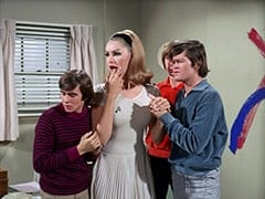 Davy Jones, April Conquest (Julie Newmar), Peter Tork, Micky Dolenz