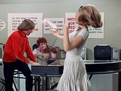 Peter Tork, Female Violinist (?), April Conquest (Julie Newmar)