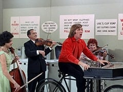 Cellist (?), Male Violinist (?), Peter Tork, Female Violinist (?)
