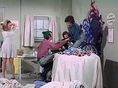 April Conquest (Julie Newmar), Mike Nesmith, Davy Jones, Micky Dolenz