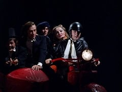 Micky Dolenz, Peter Tork, Davy Jones, April Conquest (Julie Newmar), Mike Nesmith