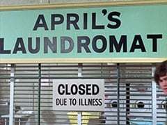 Outside April's Laundromat