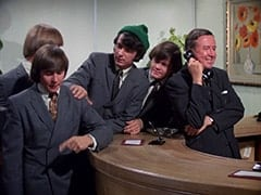 Davy Jones, Mike Nesmith, Micky Dolenz, Buntz Compton (John Graham)