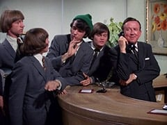 Peter Tork, Davy Jones, Mike Nesmith, Micky Dolenz, Buntz Compton (John Graham)