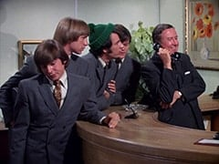 Davy Jones, Peter Tork, Mike Nesmith, Micky Dolenz, Buntz Compton (John Graham)