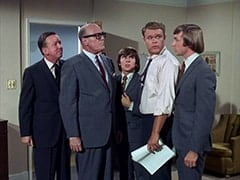 Buntz Compton (John Graham), Mr. Weatherwax (Philip Ober), Davy Jones, McKinley Baker (Dick Anders), Peter Tork