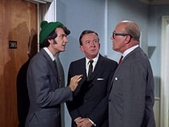 Mike Nesmith, Buntz Compton (John Graham), Mr. Weatherwax (Philip Ober)