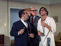 Dr. Corell (Alfred Dennis), Mr. Weatherwax (Philip Ober), Micky Dolenz