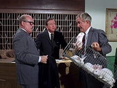 Mr. Weatherwax (Philip Ober), Buntz Compton (John Graham), Conventioneer (Foster Brooks)