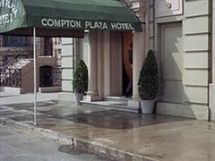 Outside Compton Plaza Hotel