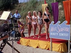 Philo (Hamilton Camp), Luther Kramm (Jerry Lester), Frankie Catalina (Bobby Sherman), Light Blonde Extra, Miss Hermosa Beach (?), Miss Redondo Beach (?), Tina (Linda Albertano)