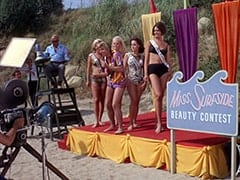 Philo (Hamilton Camp), Luther Kramm (Jerry Lester), Light Blonde Extra, Frankie Catalina (Bobby Sherman), Miss Hermosa Beach (?), Miss Redondo Beach (?), Tina (Linda Albertano)