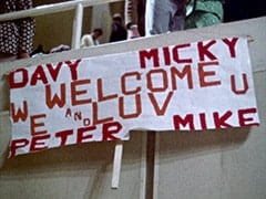 Davy / Micky / Peter / Mike / Welcome and we luv u