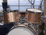 gold sparkle drums