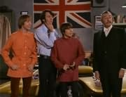 Peter Tork, Mike Nesmith, Davy Jones, Butler (Maurice Dallimore)