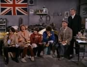 Mike Nesmith, Peter Tork, Davy Jones, Micky Dolenz, T.N. Crumpets (William Glover), Butler (Maurice Dallimore)