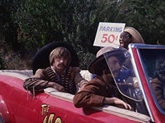 Peter Tork, Mike Nesmith, Parking Lot Attendant (Godfrey Cambridge)