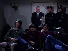 Mike Nesmith, Davy Jones, Sergeant (Dort Clark), Micky Dolenz, Cop (Robert Michaels), Cop #2 (?)