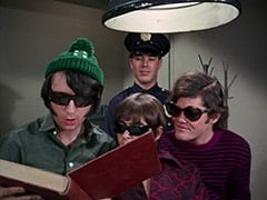 Mike Nesmith, Davy Jones, Cop #2 (?), Micky Dolenz