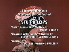 "Background Music Composed & Conducted by Stu Phillips / ""Randy Scouse Git"" Written by Micky Dolenz / ""Pleasant Valley Sunday"" Written by Gerry Goffin & Carole King / Produced by Douglas Farthing Hatlelid"