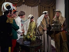 Mike Nesmith, Micky Dolenz, Peter Tork, Davy Jones, King Hassar Yaduin (Monte Landis)