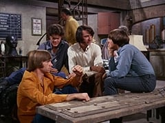 Peter Tork, Micky Dolenz, Mr. Swezey (Peter Brocco), Mike Nesmith, Davy Jones