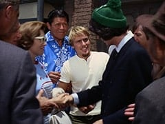 Handshake Man (?), Goateed Extra, Mike Nesmith, David Price