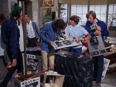 Mike Nesmith, Mr. Swezey (Peter Brocco), Micky Dolenz, Davy Jones, Peter Tork