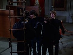 Duce (Monte Landis), Micky Dolenz, Mike Nesmith, Davy Jones, Peter Tork