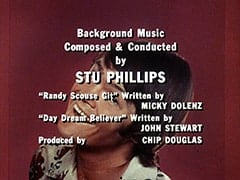 "Background Music Composed & Conducted by Stu Phillips / ""Randy Scouse Git"" Written by Micky Dolenz / ""Day Dream Believer"" Written by John Stewart / Produced by Chip Douglas"