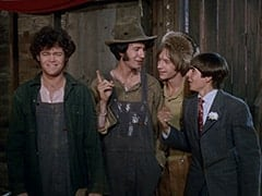 Micky Dolenz, Mike Nesmith, Uncle Raccoon (Peter Tork), Davy Jones