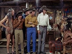 Kimba (Burt Mustin), Davy Jones, Micky Dolenz, Peter Tork, Mike Nesmith, Thursday (Rupert Crosse)
