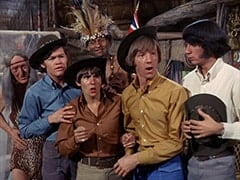 Kimba (Burt Mustin), Micky Dolenz, Davy Jones, Thursday (Rupert Crosse), Peter Tork, Mike Nesmith